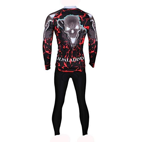 Generic Brands Cyclisme Costumes IBHT été Sports de vélo de Bonne qualité Essentielle vêtements de Plein air Nouveau (Color : Long Sleeve Suit, Size : XXXL)
