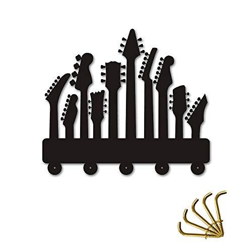 WANDOM Gitaar Haken Wanddeur Kleding Jas Hoed Hanger Keuken Badkamer Handdoek Haken Muziek Instrument Huishoudster Muurdecoratie