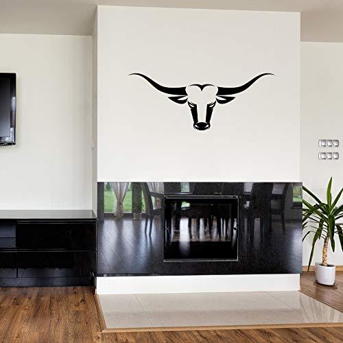 JXCDNB Pegatinas de Pared de Calavera de Toro calcomanías de Caza de Rancho Adhesivo de Vinilo Modernos murales de Arte de Bricolaje Pegatinas de Pared de Sala de Estar casera 57x121 cm