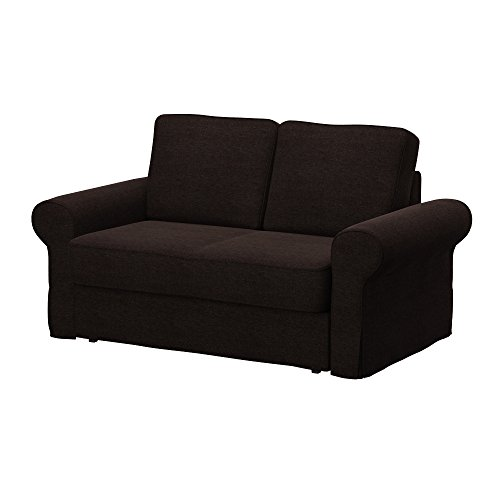 Soferia - IKEA BACKABRO Funda para sofá Cama de 2 plazas, Classic Dark Brown