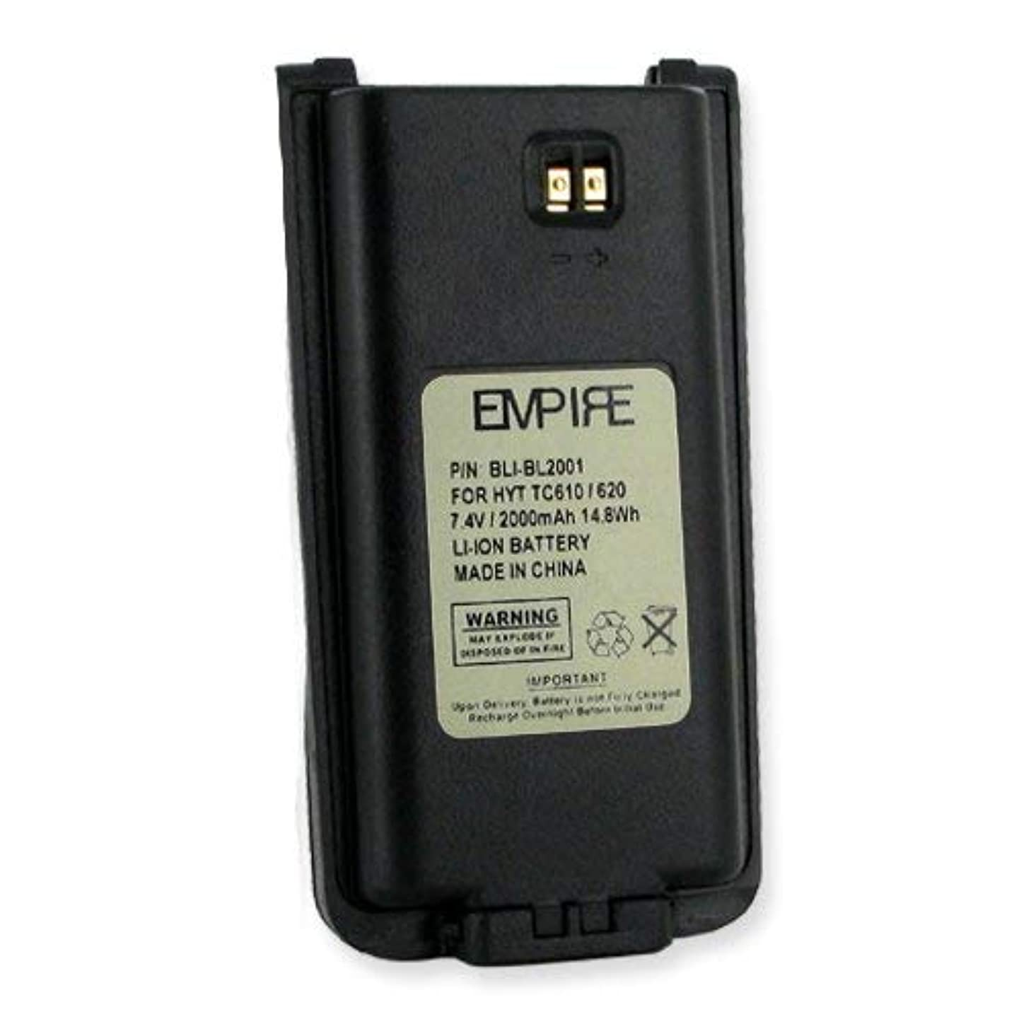 HYT BL2001 2-Way Radio Battery (Li-Ion 2000mAh) Rechargeable Battery - Replacement for HYT BL2001