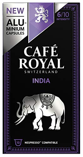 Café Royal 50 India Single Origin Nespresso (R)* kompatible Kapseln aus Aluminium - Intensität 6/10 - 50 Kaffeekapseln (5 x 10 Pack) - UTZ - Kompatibel mit Nespresso (R)* Kaffeemaschinen