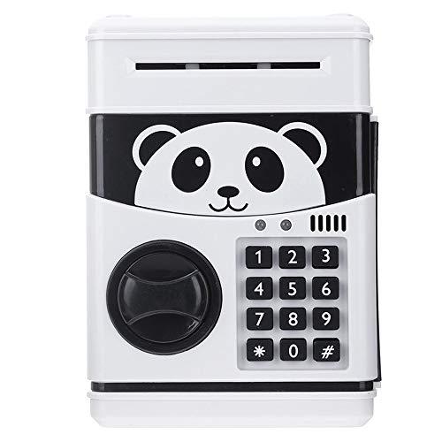 Huchas Hogar y cocina Huchas Panda Electronic hucha ATM contraseña dinero en efectivo monedas Caja caja de ahorro del Banco Caja fuerte con capacidad automática de la garantía del billete de banco Huc