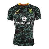 Maillot Rugby Homme/T-Shirt Graphique en Jersey De Coton De La Coupe du Monde des Springboks D'Afrique du Sud 2019,T-Shirt De Football Supporter Sport Top M