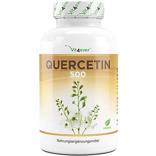 Quercetin - 500 mg - 120 Kapseln - 4 Monatsvorrat - Laborgeprüft - Natürlich aus japanischem Schnurbaum-Blütenextrakt - Hochdosiert- Vegan - Premium Qualität