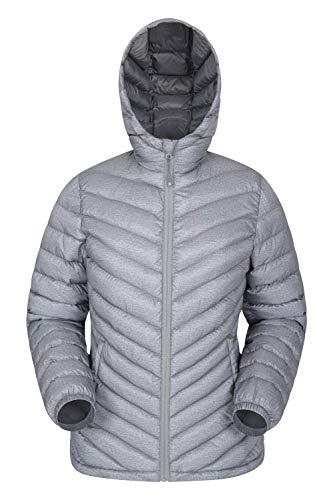 Mountain Warehouse Seasons Gefütterte Damenjacke - Wasserbeständige Winterjacke, Fronttaschen, verstellbare Bündchen und Kapuze mit Elastik Grau 36
