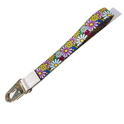 HEZEN Handgelenk-Schlüsselband,Schlüsselband für Schlüssel,Damen-Schlüsselanhänger,Handgelenkschlaufe für Schlüssel,Schlüsselband (Chrysantheme)