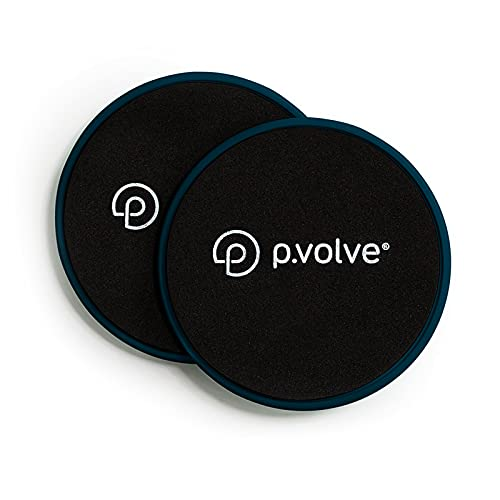 P.volve Gliding Discs (Workout Sliders), Teal