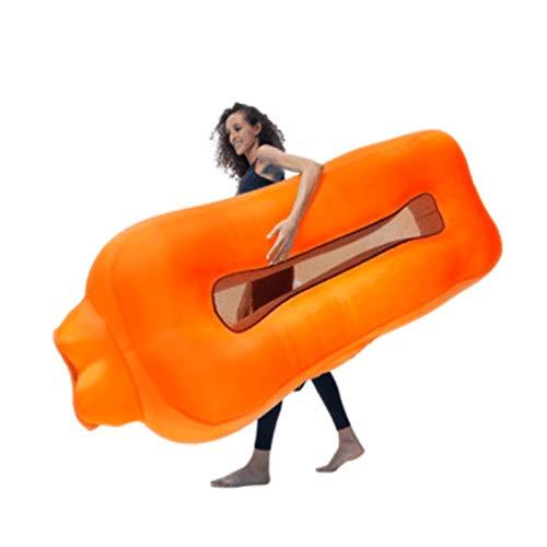 DUTUI Tragbares Aufblasbares Sofa Im Freien, Unverzichtbar Für Strandcamping, Schnell Aufblasbare Schwimmende Reihe Auf Dem Wasser, Gute Amphibienartikel,4