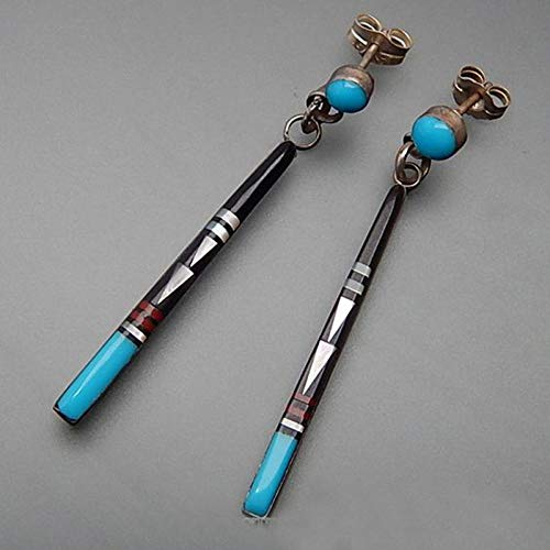 Orecchini pendenti con asta lunga in pietra blu vintage Gioielli moda tribale Orecchini fatti a mano in metallo etnici Boho per le donne Migliori orecchini regalo D392