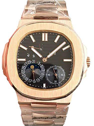 Neue Luxusmarke Automatische Mechanische Selbstwind Silber Rotgold Blau Grau Weiß Schwarz Sportuhr Edelstahl Uhr