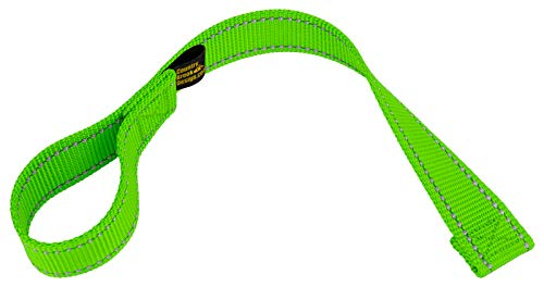 Country Brook Design - 1 Inch Winch Hook Pull Strap with Reflective Nylon - Hot Green