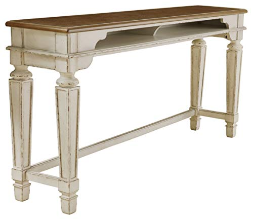 Signature Design by Ashley Realyn Counter Height Dining Room Table, Two-tone