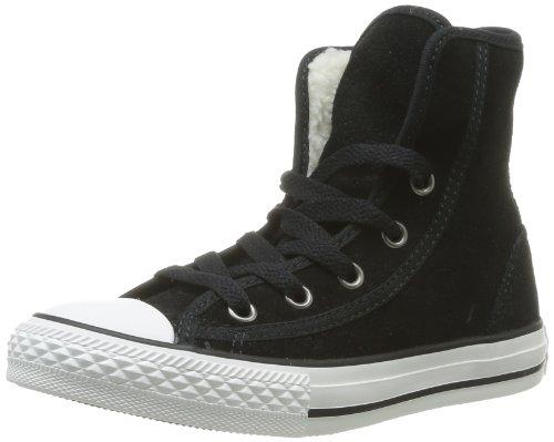 CONVERSE Chuck Taylor Super Winter 310370-31-8, Unisex - Kinder Sneaker, Schwarz (NOIR), EU 27