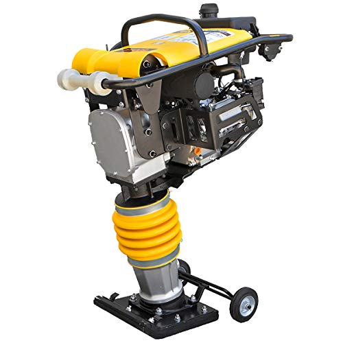 Stark 6.5 Gas Impact Jumping Jack Tamper Tamping Gasoline Engine Plate Vibratory Compactor Recoil Equipment, Yellow