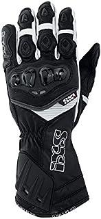 IXS Men's RS-200 Gloves (Black/White, Medium)
