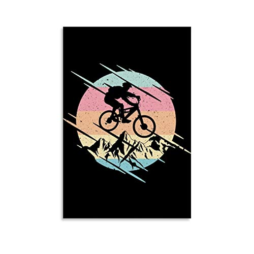 luoshi Póster de bicicleta de montaña de montaña (50 x 75 cm)