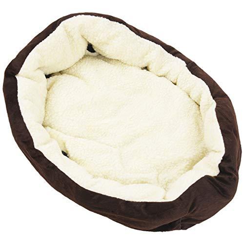 Gesh Cesta de la compra nido para mascotas, colchón acolchado para perros y gatos, 46 x 42 x 15 cm, talla S