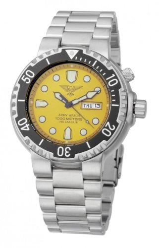 Eichmüller EP843 - Reloj para Hombres, Correa de Acero Inoxidable Color Plateado