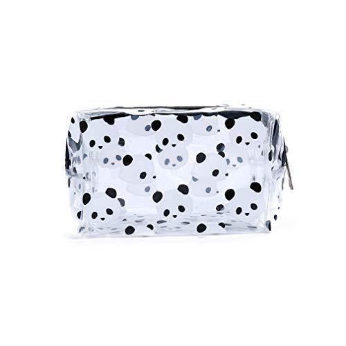 L_shop Panda Cartoon Cosmetic Bag Transparent PVC Jelly Storage Wash Clutch