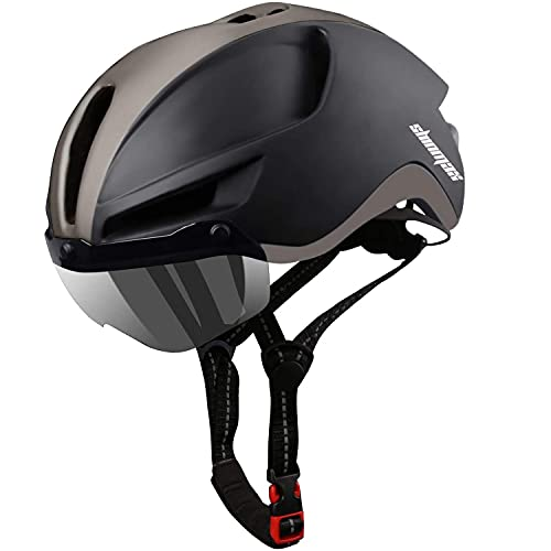 Shinmax Casco Bicicleta,Casco Bicicleta Adulto para con Magnética Visera,Casco MTB...