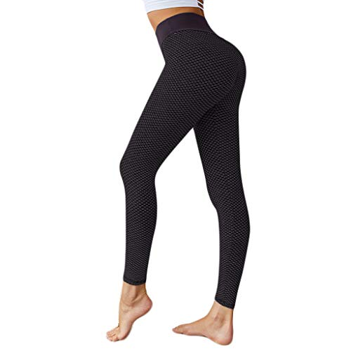 AIni Yogahosen für Damen Mode Beiläufiges 2019 Neuer Sexy High Waist Yoga Pants Drucken Bauch Workout Laufen Sport Yoga Pants Yoga Leggings Sport Fitness Hosen Trainingshose (S,Schwarz)