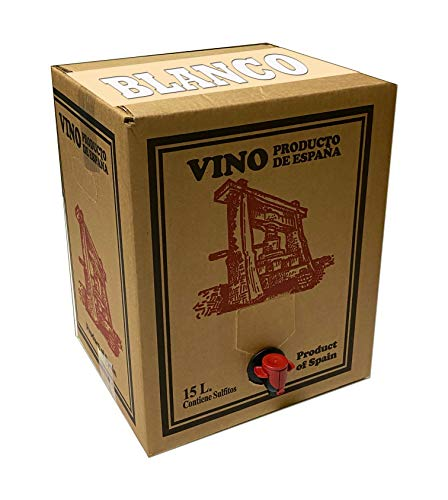 Bag in Box 15L Vino Blanco Joven Bodega Los Corzos (Equivalente a 20 Botellas de 750 ml)