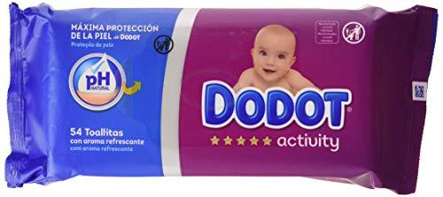 Dodot Activity Toallitas para Bebé 16 Paquetes de 54 Unidades, 864 Toallitas