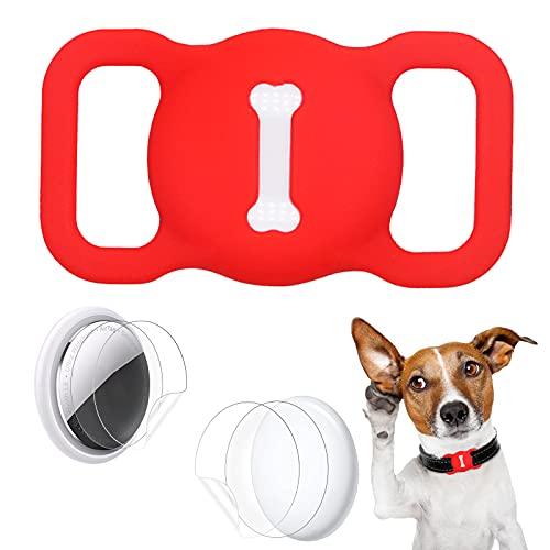 Aukvite Pet Airtag Collare Protector per Accessori per Collare per Cani e Gatti Airtag GPS Finder, con 4 Sets di Pellicole Protettive (Polvere)