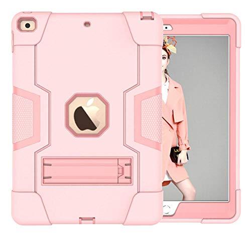 HNKHKJ Schwere Shochproof Silikon Rüstung Abdeckung für iPad 10 2 7. Gen A2198 A2200 A2232 10 2Tablet Funda Capa Fall für Kinder + Film + Pen-Pink