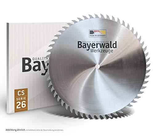Bayerwald CS - Hoja de sierra circular (315 mm de diámetro x 1,8 mm x 30 mm, dientes de lobo (56 dientes), corte rápido y grueso, madera y materiales de madera, corte longitudinal y transversal)