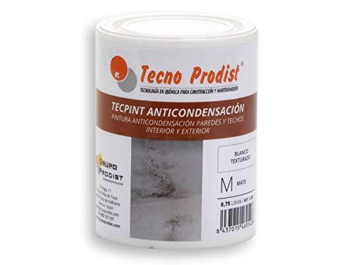 TECPINT ANTICONDENSACIÓN de Tecno Prodist - 750 ml - Pintura Anti-condensación y Anti-moho al Agua para Interior y Exterior - Paredes y Techos - Buena Calidad - Fácil Aplicación - (BLANCO)