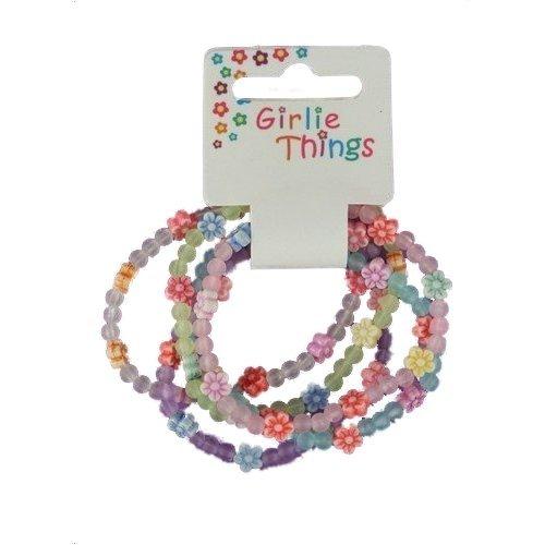 Bracelets fleurs givrées pour filles - Lot de 5