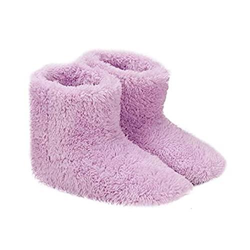 Ohomr Climatizada Zapatillas para Mujer, USB Calefacción Zapatillas Invierno Caliente, calefacción Plantillas para la Buena Noche de sueño 5V Calentador de Rosa