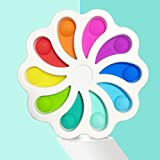 OEIGCI 15cm Farbe Blume Zappeln Grübchen Spielzeug Stressabbau Handspielzeug für Kinder Erwachsene, Squeeze Push Pop Bubble Sensorisches Spielzeug,Weiches Silikon,Baby Puzzle Spielzeug-1PC (A)