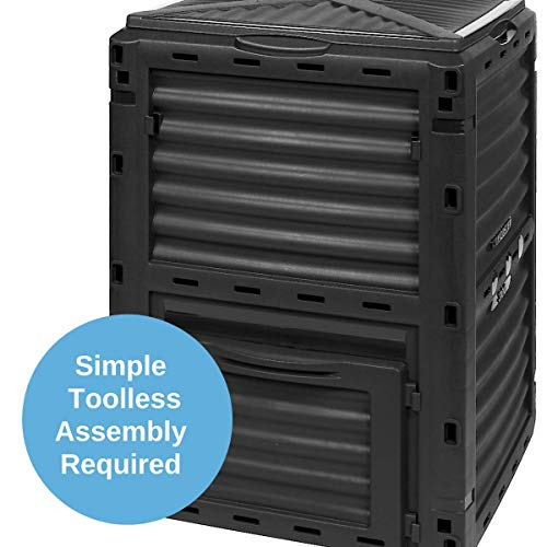 Greenline-Composting-Bin-Garden-Easy-300-L-Composter-Bin-Flat-Pack-Toolless-Assembly