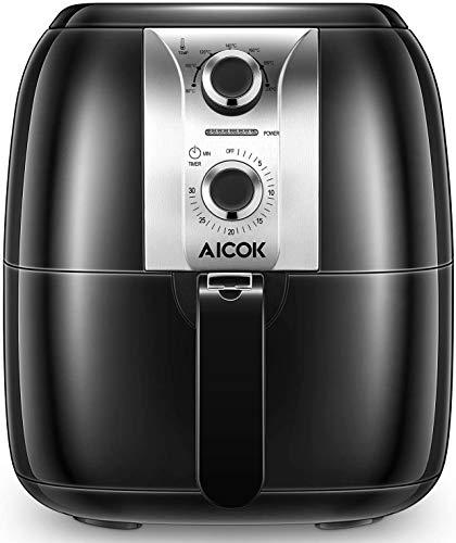 AICOK Friteuse Électrique sans Huile 3,5L Friteuse à Air Chaud avec Température Réglable à 7...