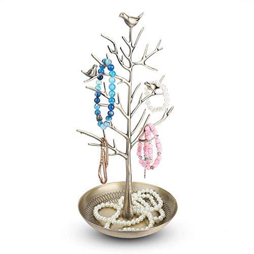 Présentoir de collier de support de cintre de bijoux, affichage de Bracelet durable de support de cintre, pour les boutiques de bijoux à la maison de boutiques Arbre à bijoux(Gu Qing)