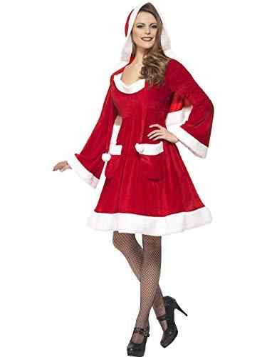 Babbo Natale Smiffy in Costume della città con cappuccio e tasche - Rosso, Piccolo