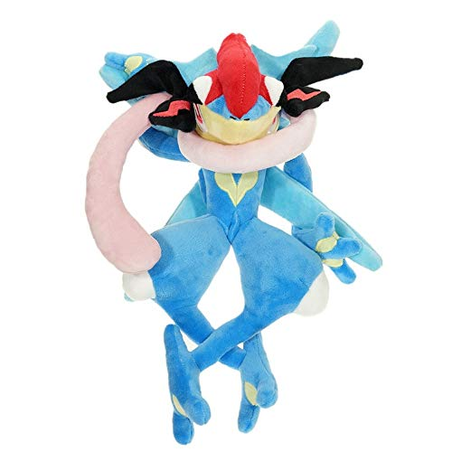 Spuik Burbuja Greninja felpa de la muñeca suave del juguete Ninja rana de peluche de...