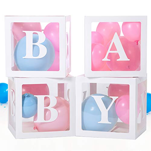 Baby Box, Baby Shower Decorations for Baby Shower Boxes, 20 Pieces Blocks Decorations For Gender Reveal Party, Perfect as Baby Shower Blocks Decoration For Boy and Girl, Balloon Box Decoration