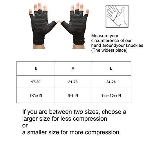 Arthritis Compression Gloves Copper Arthritis Gloves Women & Men for Osteoarthritis,Arthritis,Tendonitis and Typing-Rapid Recovery and Pain Relief for All Lifestyles(Pair)