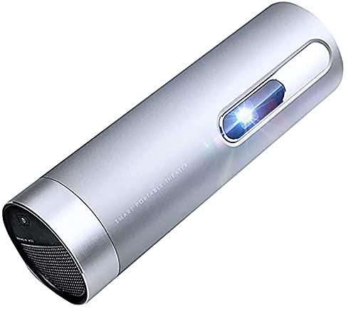 YIQIFEI Proyector portátil 4k Ultra HD WiFi Proyector ±90° Rotación libre Enfoque en vivo incorporado 15600mAh Batería de gran capacidad 1080p Oficina Home Proyector proyector