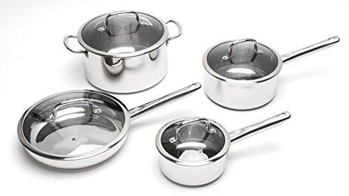 BergHOFF 2211097 8-Piece Earthchef Boreal Cookware Set, Silver