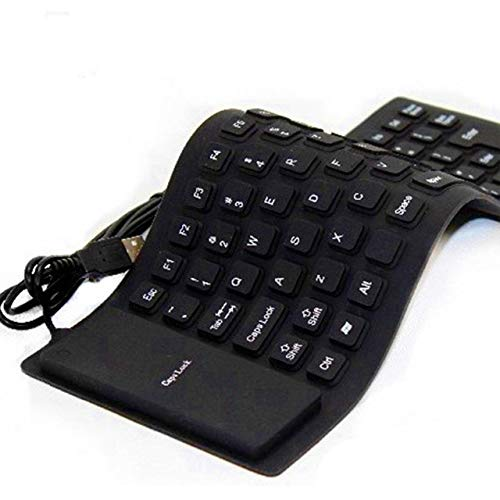 IRISFLY Foldable Silicone Keyboard USB Wired Soft Waterproof Rollup Keyboard for PC Laptop Notebook
