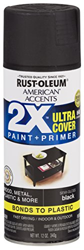 Rust-Oleum 327950-6 PK American Accents Spray Paint, 6 Pack, Semi-Gloss Black
