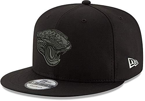 New Era Jacksonville Jaguars Mütze NFL schwarz auf schwarz 9FIFTY Snapback verstellbare Kappe Erwachsene Einheitsgröße