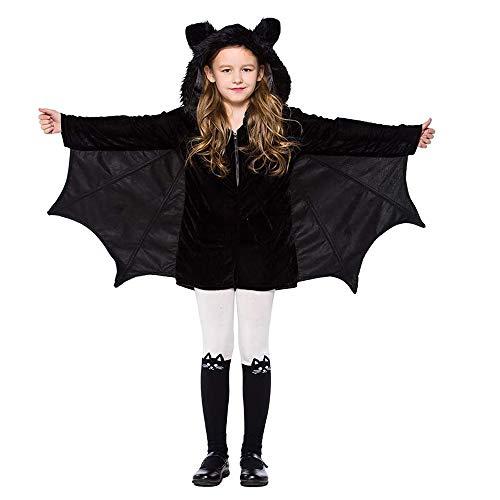 LPing Disfraz de murciélago de Halloween para niños,Fiesta de Baile,Traje de Juego de rol de Fiesta,diseño de Cremallera,fácil de Poner y Quitar