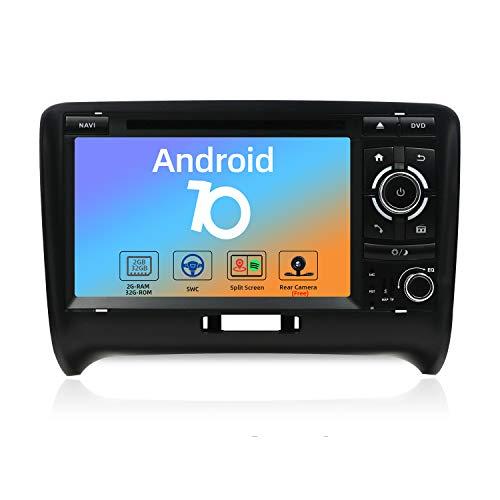 JOYX Autoradio Android 10 Compatible avec Audi TT (2006-2011) - Caméra Canbus Microphone GRATUITES -2G32G- 2 Din - 7 Pouces - Soutien Dab Commande au Volant 4G WiFi Bluetooth5.0 Carplay Mirrorlink