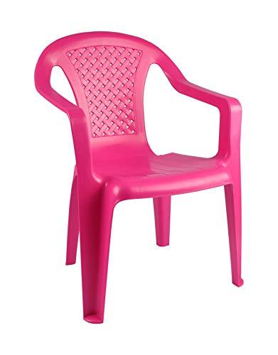 Unbekannt Kinderstühle Stapelstühle Kinderstuhl Kindersessel Stuhl Kindermöbel Gartenstuhl, Farbe:rosa